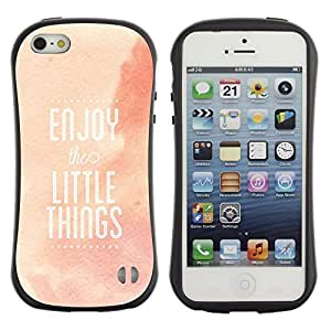 LASTONE PHONE CASE / Suave Silicona Caso Carcasa de Caucho Funda para Apple Iphone 5 / 5S / Enjoy Little Things Quote Positivity Life