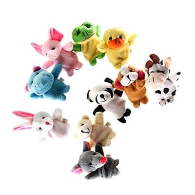 F Fityle Marioneta Dedo Cuentos de Lana, Animal de Peluche para Niños: Juguetes y juegos