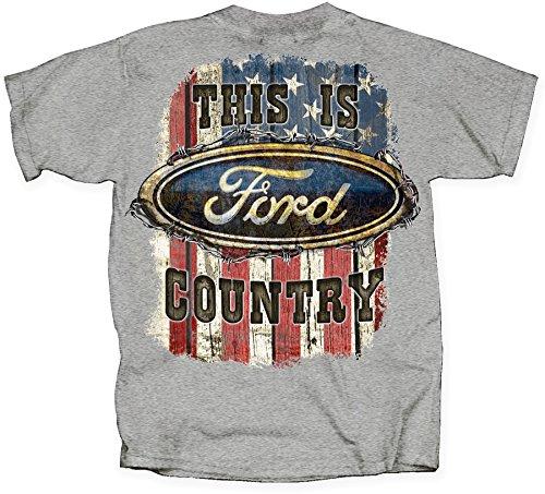 - Joe Blow Ford Country American Flag T-Shirt-medium