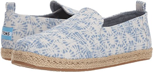 TOMS Women's Deconstructed Alpargata Rope White Shibori 9.5 B US