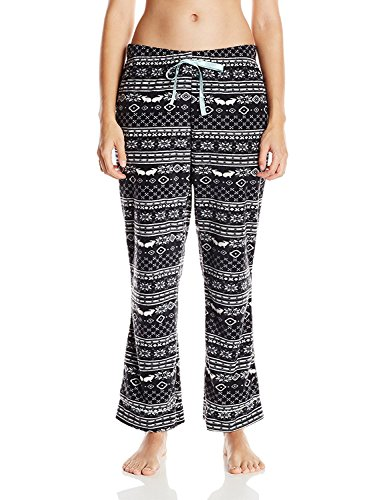 Casual Nights Women's Plush Micro-Fleece Pajama Pants - Lt Blue - (Micro Fleece Plush Pants)