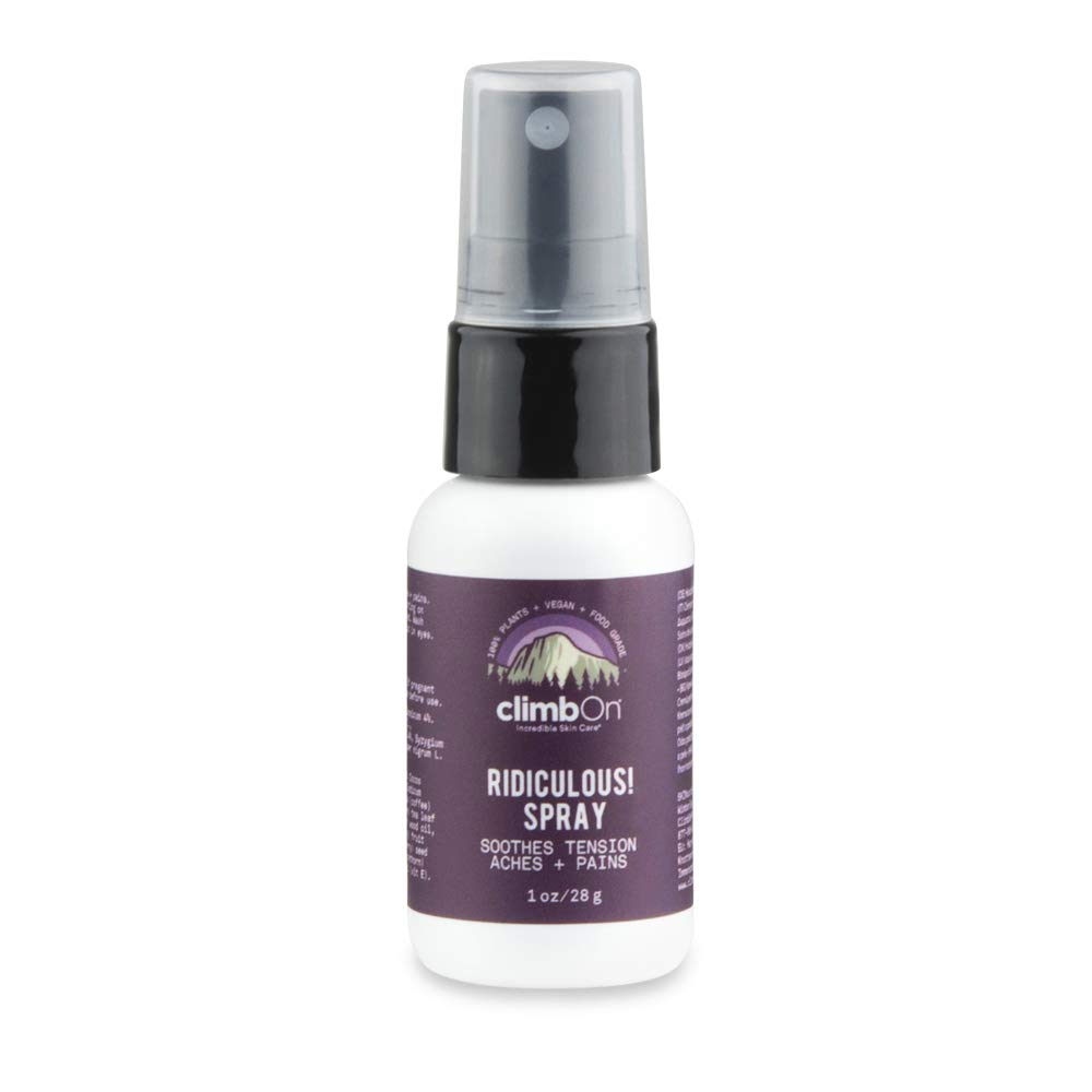climbOn Ridiculous! Spray - Proprietary Blend of Essential Oils Designed to Help Soothe Muscle Tension, Non-GMO Plant-Based Spray, 1 oz Bottle
