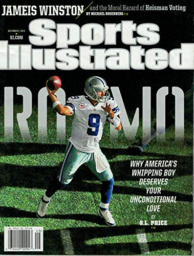 (TONY ROMO COVER UNSIGNED SPORTS ILLUSTRATED 12/02/2013 JAMEIS WINSTON 80193)