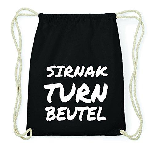 JOllify SIRNAK Hipster Turnbeutel Tasche Rucksack aus Baumwolle - Farbe: schwarz Design: Turnbeutel