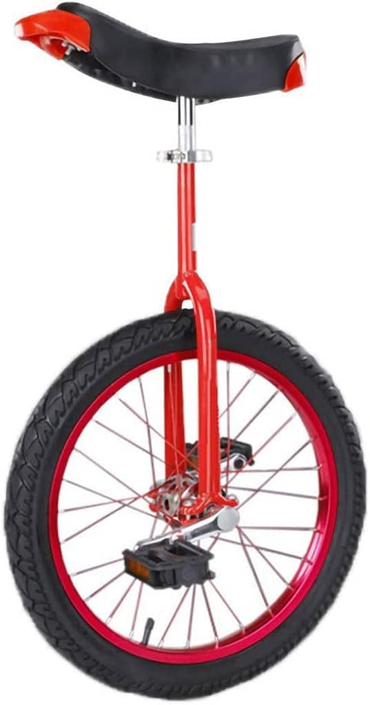 Bicicleta de Equilibrio, Monociclo, Entrenador de Ruedas Bicicleta Antideslizante Neumático de montaña Aleación de Aluminio Marco de llanta Abrazadera de Asiento Ajustable Equilibrio Ciclismo Ejerci