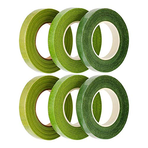 [해외]LULAA 플로 라 테이프 조화 테이프 그린 테이프 인공 인공 꽃 꽃다발 선물 DIY 제작 6 장의 3 색 / LULAA Flora Tape Artificial Flower Tape Green Tape Artificial Flower Bouquet Gift DIY Making 6 sheets 3 colors