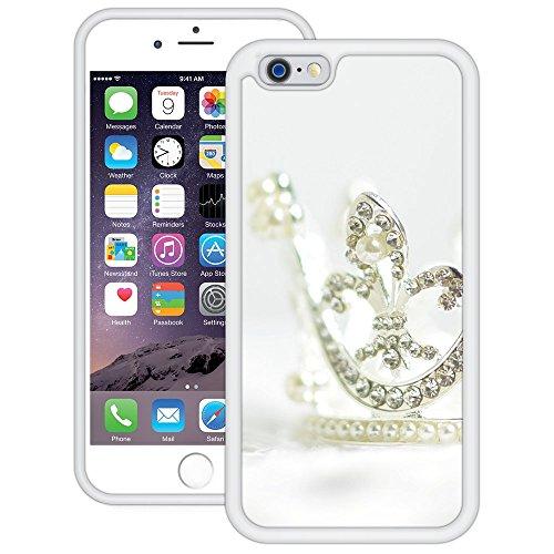 Diamanten-Tiara | Handgefertigt | iPhone 6 6s (4,7') | Weiß Hülle