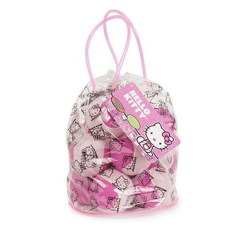 Hello Kitty Pressureless Tennis Balls in Bag 12 Pack