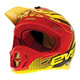 EVS Sports T7 Pulse Helmet (Red/Yellow, Large)