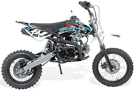 Moto Dirt Bike niños 110 cc 14/12 - recinto Semi-Auto 4T - azul, sin montaje, se envía en caja: Amazon.es: Coche y moto