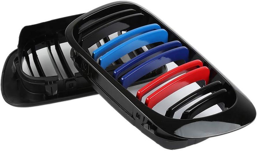 Yihaifu Gloss M-Color Rein Avant Noir E46 Grillages Grille Grill Fit E46 S/érie 3 2 Portes de 1998 /à 2002