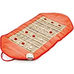 HealthyLine Infrared Heating Pad/Wrap Red Light Therapy - Natural Amethyst Hot Stone - Increase Blood Circulation Temporary Deep Tissue Pain Relief - Soft Flexible Portable 36in x 18in