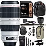 Canon EF 100-400mm f/4.5-5.6L is II USM Lens + Lexar 64GB U3 Memory Card + VidPro USB Reader/Writer + 62' Monopod + 77mm 3 Piece Filter Set Kit + Polaroid Accessory Bundle