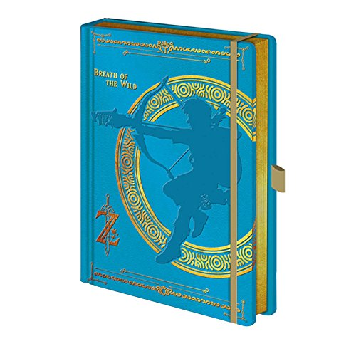 The Legend Of Zelda Notebook Breath The Wild Official Blue Premium A5 ()
