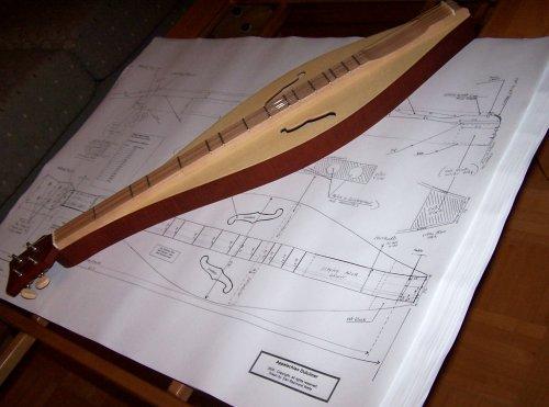 Appalachian Folk Dulcimer Plans - Full Scale - Make Dulcimer by spiritman