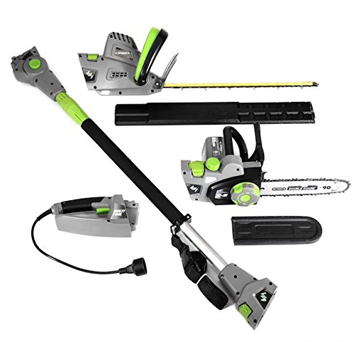 Earthwise 4-in-1 Chainsaw, Hedge Trimmer, person of polish lineage Hedge and Saw, Electric Powered, 2 year constrained Manufacturer Warranty, Grey using Green Accents Cyber Monday 2017