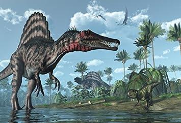 Amazoncom Laeacco 7x5ft Jurassic Period Dinosaur Background