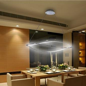 Lu Mi® LED Pendelleuchte Höhenverstellbar Küchen Deckenleuchte Wohnzimmer  Designleuchte Deckenlampe Schlafzimmer Modern (Sunset