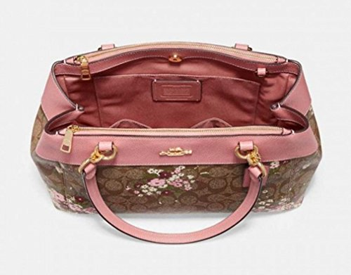 COACH IN BROOKE multi CARRYALL WITH FLORAL CANVAS SIGNATURE imitation khaki BUNDLE PRINT F28963 gold 6CB6xr