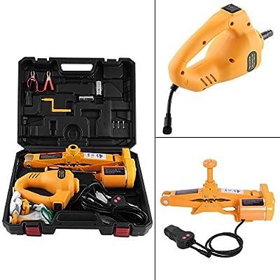 Electric Car Jack-2/3 Ton Automotive Electric Scissor Lifting Jacks SUV Emergency Equipment with Impact Wrench 12V DC RV Floor Jack