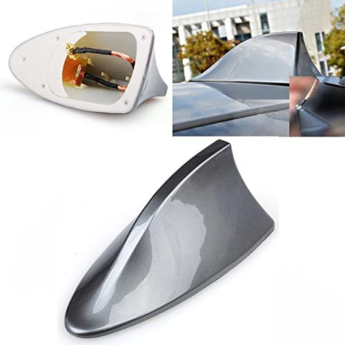 99Parts Hot Gray Car Weather Proof Shark Fin Style Roof Mount FM//AM Radio Signal Antenna Aerial Universal Fit