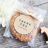 Saasiiyo Hot Sale100pcs/lot Translucent Dots Plastic Cookie Packaging Bags Cupcake Wrapper Self Adhesive Bags