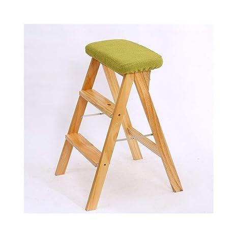 Excellent Ajzgf Solid Wood Folding Step Stool Kitchen Foot Stool Inzonedesignstudio Interior Chair Design Inzonedesignstudiocom