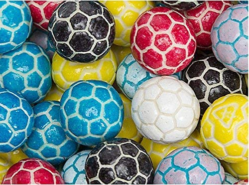 Candy Shop Soccer Balls Bubble Gum Gumballs - 2.2 Pound Bag ()