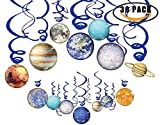 Solar System Hanging Swirl Decorations,Planets/Outer Space Party Supplies Decor Party Stremers Kids Birthday Decorations Ceiling Ornaments(30 PCS)