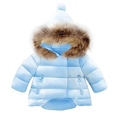 0bb59fc70 Amazon.com  Jojobaby Baby Boys Girls Hooded Snowsuit Winter Warm Fur ...