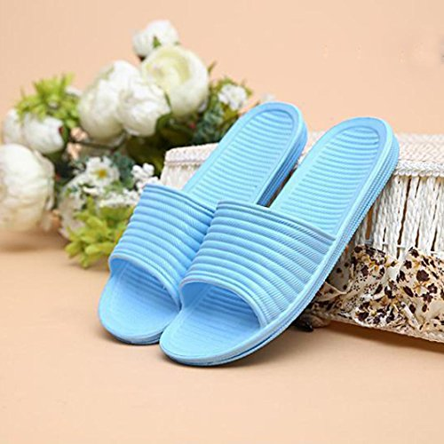 Sky Indoor amp; Blue Outdoor Stripe Slippers Sandals Women Flat Anboo Bath Summer xwUqfF6g
