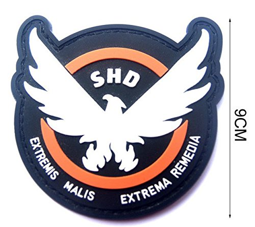 AIRSOFT-GAME-COSPLAY-THE-DIVISION-SHD-RUBBER-3D-PVC-BADGE-MORCLA-VELCRO-PATCH