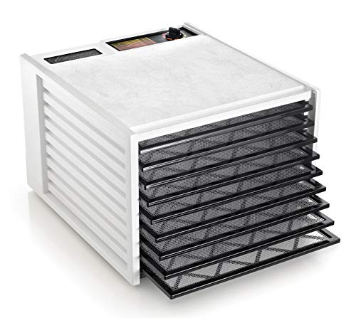 Excalibur 3900W 9-Tray Electric Food Dehydrator with Adjustable Thermostat Accurate Temperature Control Faster and Efficient Drying Includes Guide to Dehydration Made in USA, 9-Tray, White from Excalibur