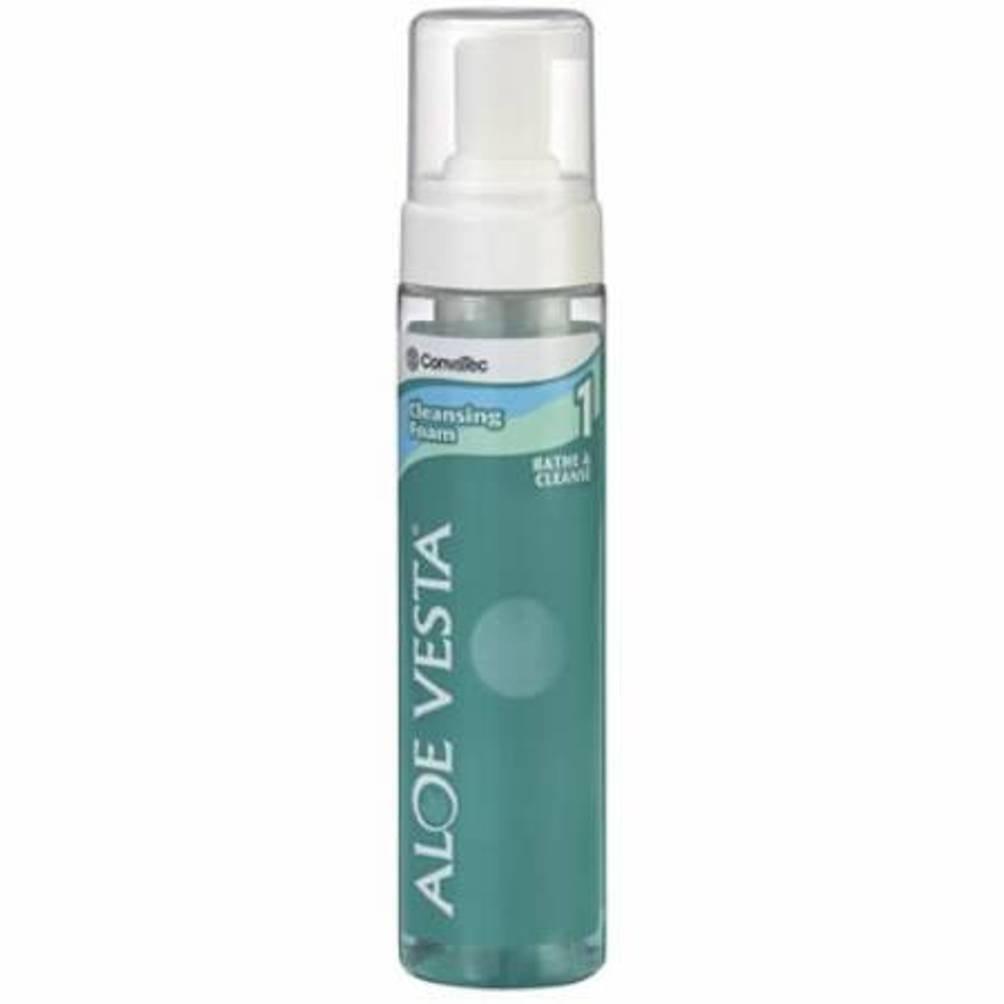 Aloe Vesta Cleansing Foam Case of 12 Size SML 8 oz spray can ConvaTec SQB325208 (Case)