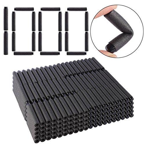 Refill Darts, Lingxuinfo 1000-Dart Refill Pack Refill Bullets for nerf jolt nerf modulus series nerf n-strike elite series, Black, Solid Head