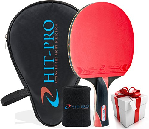 Find Bargain Ping Pong Paddle with Comfort Flared Grip | Table Tennis Racket with Killer Spin Effect...