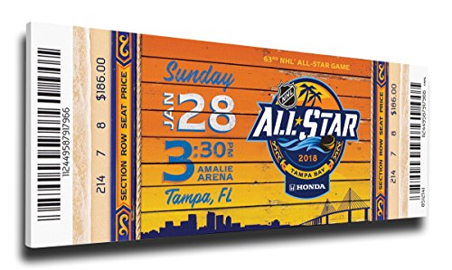 2018 NHL All-Star Game Canvas Mega Ticket - Tampa Bay Lightning (2018 All Star Game Tickets)