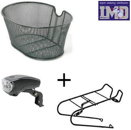 Luz + cesta + Soporte de metal para bicicleta bicicleta City Bike ...