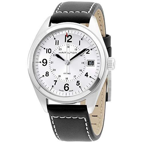 Hamilton Men's H68551753 Khaki Field Analog Display Swiss Quartz Black Watch