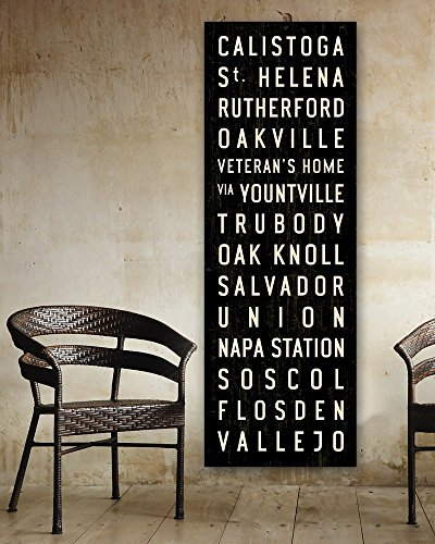 (Napa Valley Train Subway Sign on Stretched Canvas. 20 x 60)
