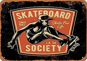 Skateboard Society Los Angeles Póster de Pared Aluminio ...