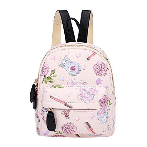 Mochilas Hombro Florales Color De Mujeres Escolares De De Impresos Domybest Bolsas Ligero Lindas Rosa Niñas Cuero Mini qxqYrRtwT