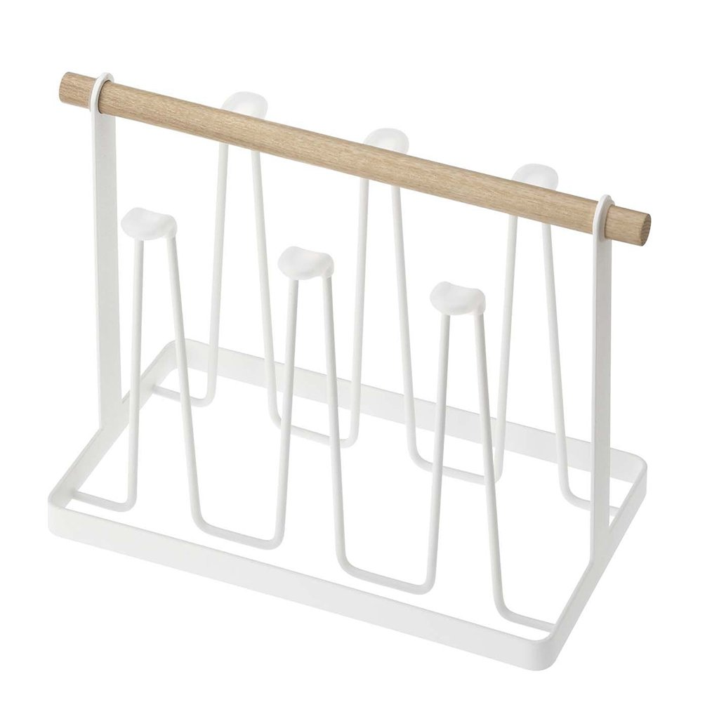 He Xiang Firm Iron Cup Holder Wooden Handle Cup Storage Rack Mug Glass Holder Restaurant Wine Cup Holder