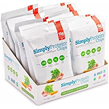 SimplyProtein Chips, Herb, Pack of 12, Gluten Free, Non GMO, Vegan