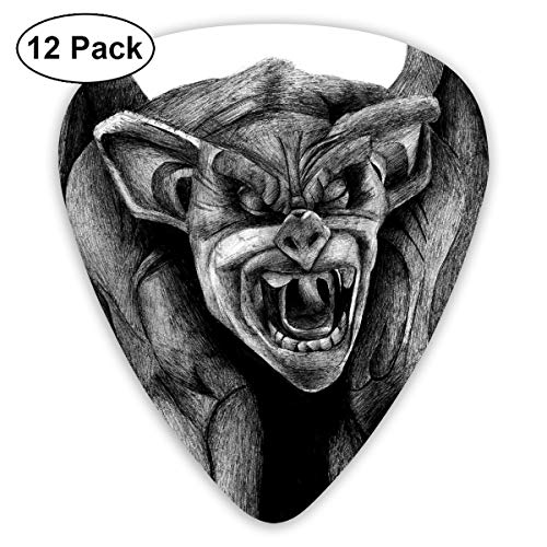 Halloween Zombie Bat Gargoyle Bendy Ultra Thin 0.46 Med 0.73 Thick 0.96mm 4 Pieces Each Base Prime Plastic Jazz Mandolin Bass Ukelele Guitar Pick Plectrum Display
