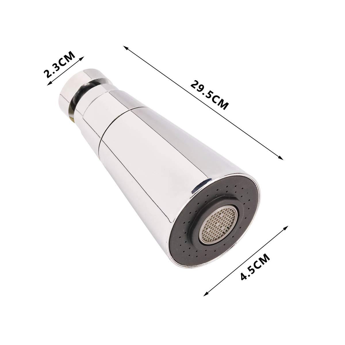 Aireador de grifo puede girar 360 grados//Filtro de ahorro de agua//Chorro de aire y chorro de ducha Dos modos de agua