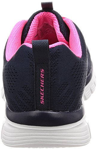 Graceful navy Pink Bleu Baskets get hot Connected Femme Skechers dWqzwvz