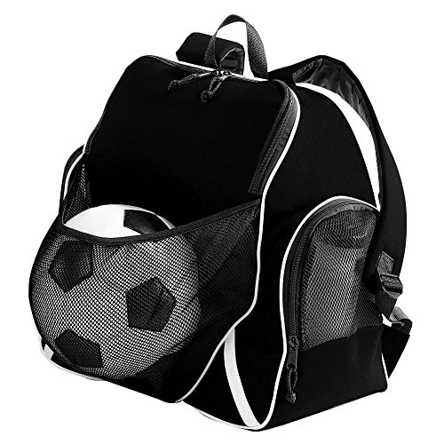 Augusta Sportswear Augusta Tri-Color Ball Backpack, Black/Black/White, One Size (Color Bag Tri Sport)