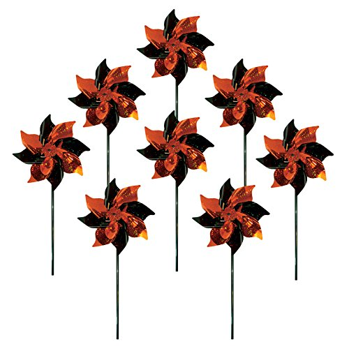 Orange Pinwheel (In the Breeze 8 Piece Orange & Black Spirit Pinwheels)