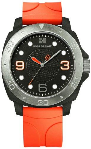 Hugo Boss Orange Black Dial Orange Rubber Mens Watch 1512665